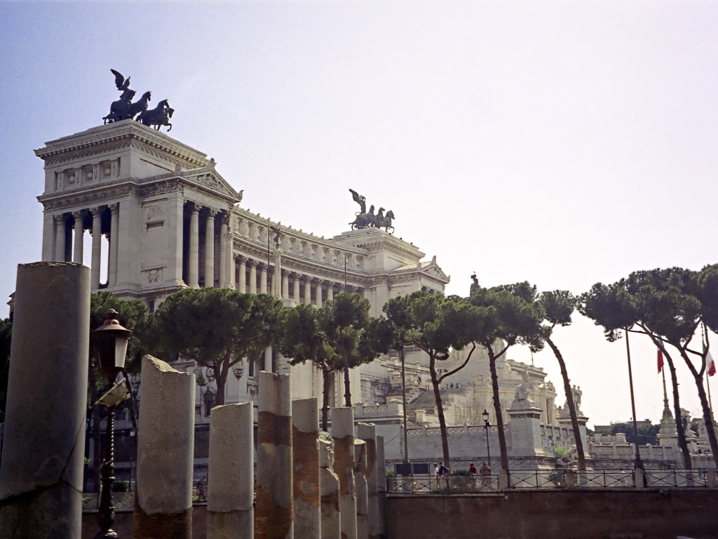 "The ""Vittoriano"" and the neighbouring Forum"