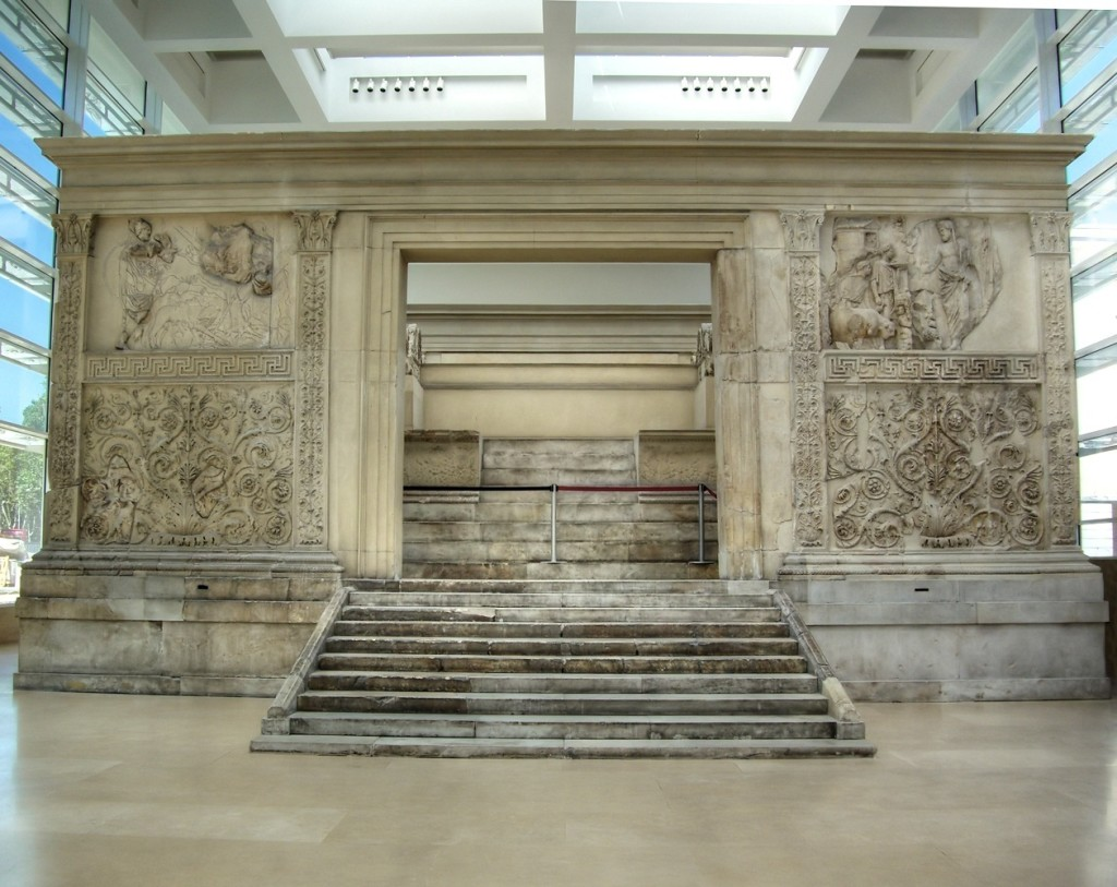 The Ara Pacis is now held within the Ara Pacis Museum