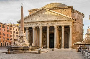 The Roman Pantheon on a sunny day
