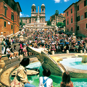The Spanish Steps are a popular meeting point for locals and tourists