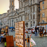 Street artists on Piazza Navona