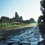 """The road """"Appia Antica"""" was paved with large smooth stones"""