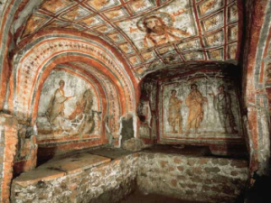 A frescoed Roman Catamb