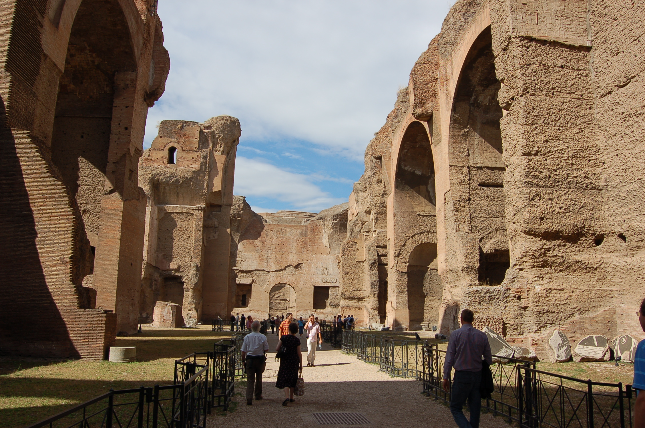 The monumental baths of Caracalla
