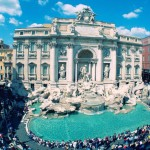 The majestic Trevi Fountain today